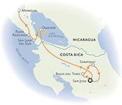 Costa Rica and Nicaragua Map